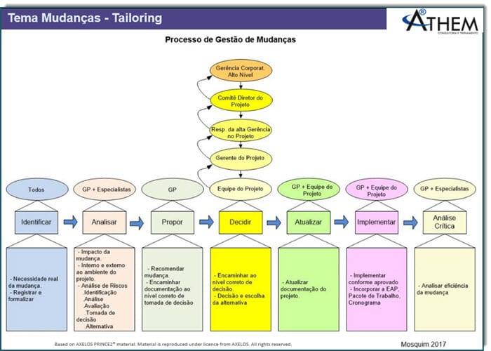 PRINCE2 Tema Mudanças - Adaptação do Controle de Mudanças em Projetos