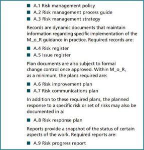 M_o_R Templates dos documentos para Gerenciar Risco Em Projetos
