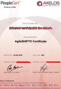 Agile shift exame de certificação foundation no Brasil