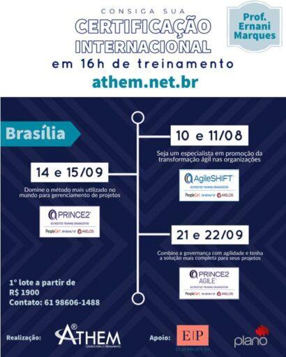 PRINCE2 Practitioner, PRINCE2 Agile e AgileSHIFT em Brasília