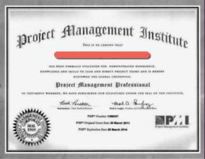 Certificado PMP Falso